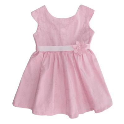 Φόρεμα ροζ με ανάγλυφα σχέδια (Μεγέθη:3,4)