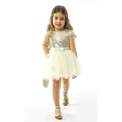 Φόρεμα με τούλι & τσαντάκι (Μεγέθη: 1)