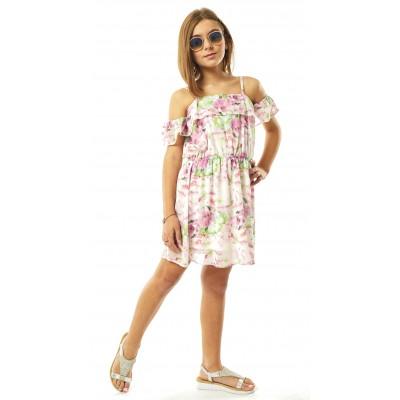 Φόρεμα εμπριμέ (Μεγέθη: 12,14,16)