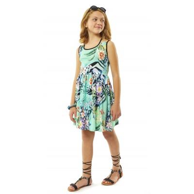 Φόρεμα βεραμάν-εμπριμέ (Μεγέθη: 6,12)