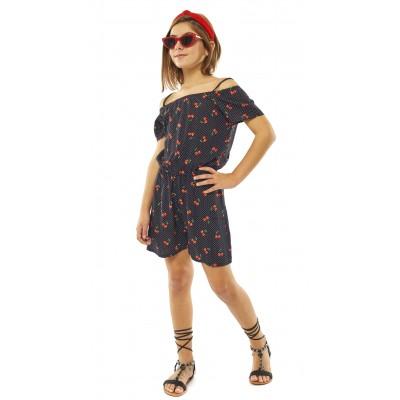 Ολόσωμη πουά φόρμα σορτς (Μεγέθη: 6)