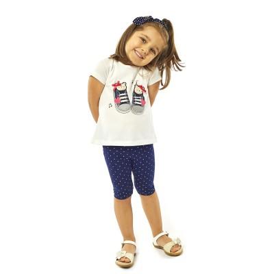 Σετ μπλούζα & κολάν/Παπουτσάκια (Μεγέθη: 6Μ,18Μ)