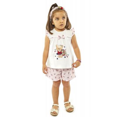 Σετ μπλούζα, σορτς & κορδέλα/Αρκουδάκι (Μεγέθη: 18Μ)