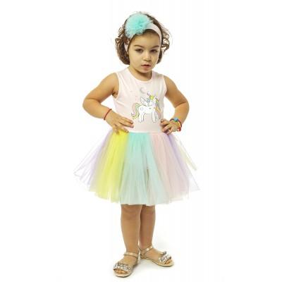 Φόρεμα & κορδέλα/Unicorn (Μεγέθη: 9Μ,12Μ,18Μ)