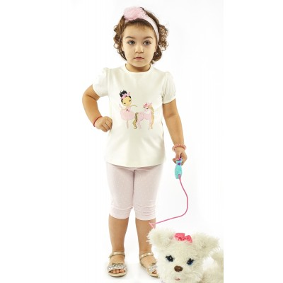 Σετ μπλούζα, κολάν πουά & κορδέλα (Μεγέθη: 9Μ)