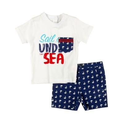 Σετ μπλούζα & βερμούδα/Sail (Μεγέθη: 6Μ,9Μ,12Μ,18Μ,24Μ)