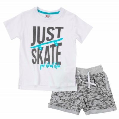 Σετ μπλούζα & βερμούδα/Just skate (Μεγέθη: 5)