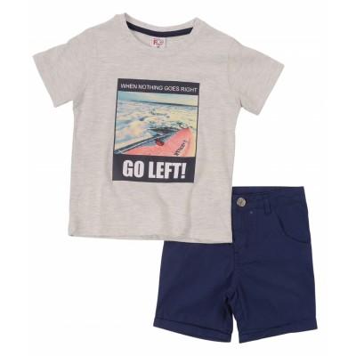 Σετ μπλούζα & βερμούδα/Go left (Μεγέθη: 3,4,5,6)