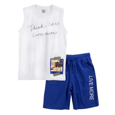 Σετ μπλούζα & βερμούδα/Think less (Μεγέθη: 6)
