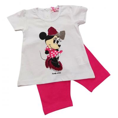 Σετ μπλούζα & κολάν/Minnie (Μεγέθη: 9Μ,18Μ,24Μ)