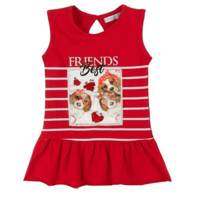 Φόρεμα βρεφικό/Best Friends (Μεγέθη: 6Μ,9Μ,12Μ,18Μ,24Μ)