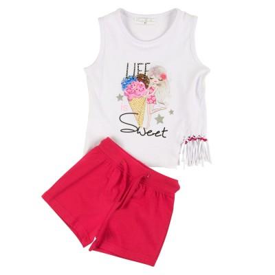 Σετ μπλούζα & σορτς/Sweet (Μεγέθη: 1)