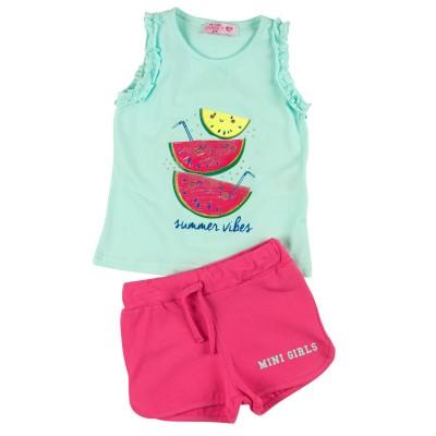 Σετ μπλούζα & σορτς/Summer vibes (Μεγέθη: 1,6)