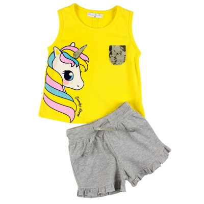Σετ μπλούζα & σορτς/Unicorn (Μεγέθη: 1)