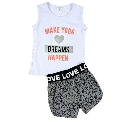 Σετ μπλούζα & σορτς/Make your dreams happen (Μεγέθη: 1)