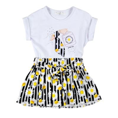 Φόρεμα με μαργαρίτες (Μεγέθη: 1,6)