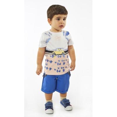 Σετ μπλούζα & βερμούδα σταθερή (Μεγέθη: 18Μ)