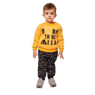 Σετ φόρμας με σχέδια στο παντελόνι (Μεγέθη: 6Μ,9Μ,12Μ,18Μ)