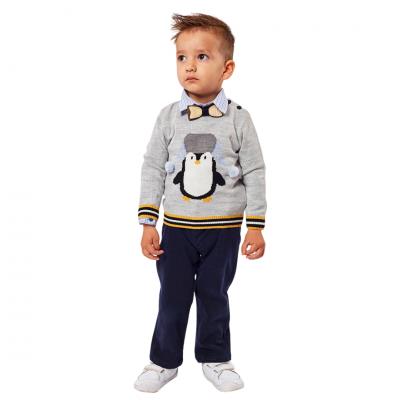 Σετ 4τμχ (πουλόβερ,παντελόνι,πουκάμισο & παπιγιόν) (Μεγέθη: 6Μ,9Μ,12Μ,18Μ,24Μ)