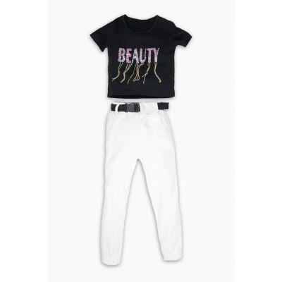 Σετ μπλούζα & παντελόνι φόρμας/Beauty (Μεγέθη: 8,16)