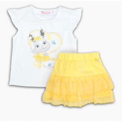 Σετ μπλούζα & φούστα πουά/Κουνελάκι (Μεγέθη: 1,2,5)