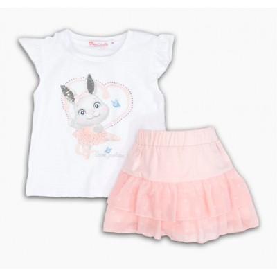Σετ μπλούζα & φούστα πουά/Κουνελάκι (Μεγέθη: 1,6)