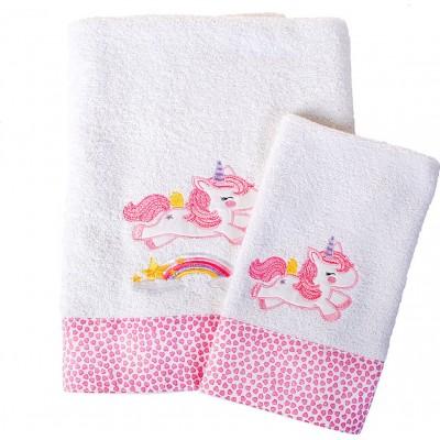 Σετ πετσέτες 2τμχ. Unicorn