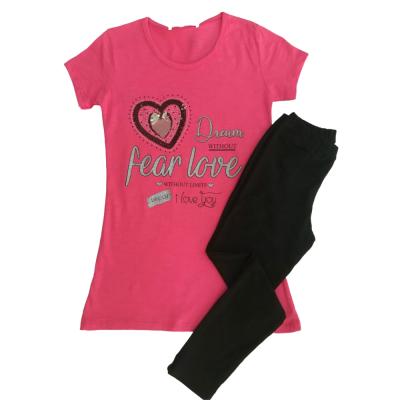 Μπλουζοφόρεμα & κολάν κάπρι Καρδούλα (Μεγέθη: 8,12)