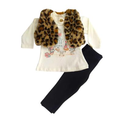 Σετ 3τμχ. μπλούζα,κολάν & γιλέκο Animal Print (Μεγέθη: 18Μ)