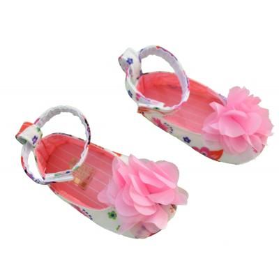 Παπούτσια αγκαλιάς με λουλούδι ροζ