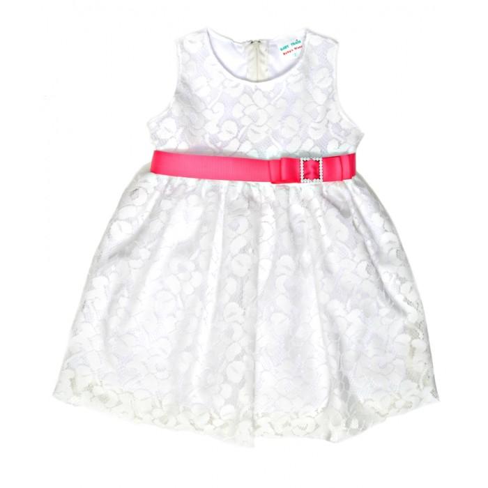 bb48ed9e2f0 Φόρεμα δαντέλα και φούξια ζώνη (Μεγέθη:4)