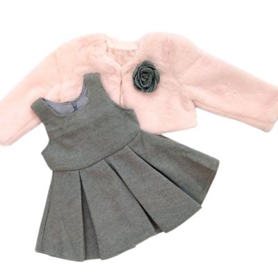 Φόρεμα με γουνάκι (Μεγέθη: 6Μ,30Μ)
