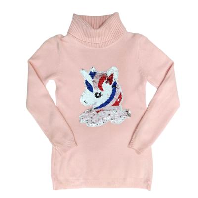 Πλεκτή μπλούζα με πούλιες/Unicorn (Μεγέθη: 4,6)