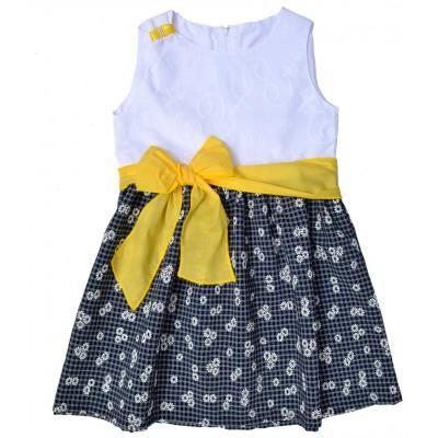 Φόρεμα με κίτρινη ζώνη/φιόγκος (Μεγέθη: 6,10,12)
