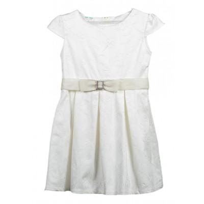 Φόρεμα εκρού με ανάγλυφα σχέδια (Μεγέθη: 6,8,10,12)