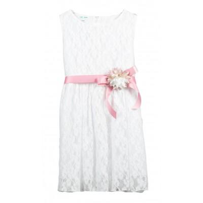 Λευκό φόρεμα δαντέλα (Μεγέθη: 6,12,14)