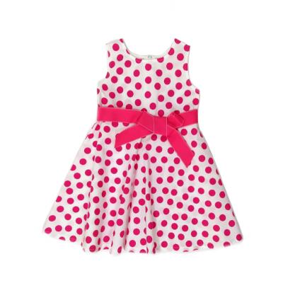 Φόρεμα πουά με φιόγκο (Μεγέθη: 4,5)