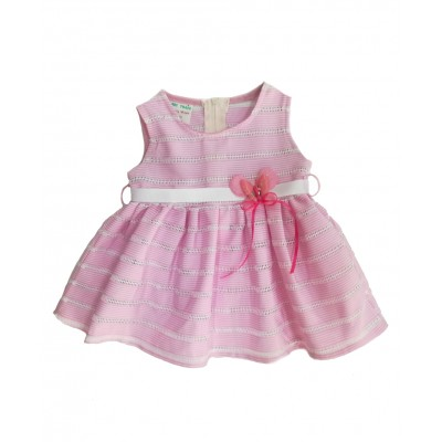 Φόρεμα ροζ (Μεγέθη: 3-6Μ)