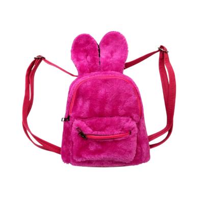 Mini Τσάντα Πλάτης Γούνινο κουνελάκι