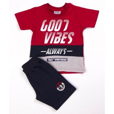 Σετ μπλούζα & βερμούδα/Good vibes (Μεγέθη: 1,4,6)