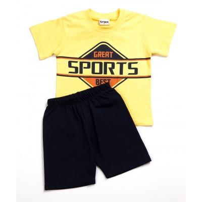 Σετ μπλούζα & βερμούδα/SPORTS (Μεγέθη: 1)