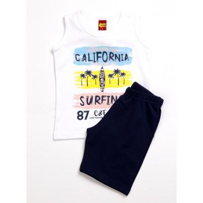 Σετ μπλούζα & βερμούδα/California (Μεγέθη: 1,3,6)