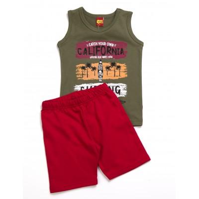 Σετ μπλούζα & βερμούδα/California (Μεγέθη: 2)