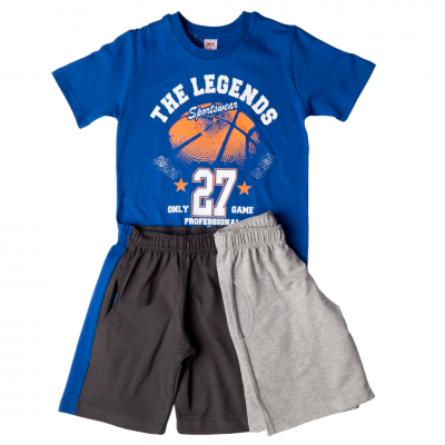 Σετ 3 τεμ. μπλούζα & 2 βερμούδες/The legends (Μεγέθη: 8)