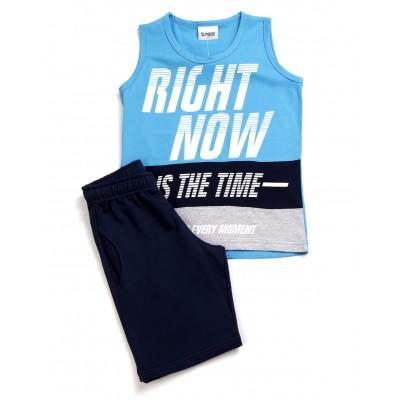 Σετ μπλούζα & βερμούδα/Right now (Μεγέθη: 6)