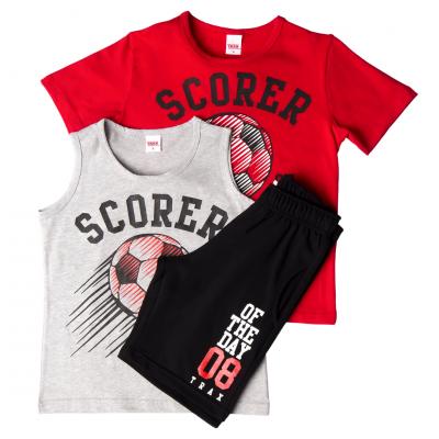 Σετ 3 τεμ. 2 μπλούζες & βερμούδα/Scorer (Μεγέθη: 6)
