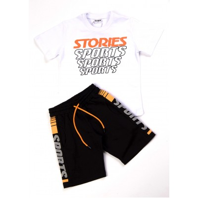 Σετ μπλούζα & βερμούδα/Stories (Μεγέθη: 6,10)