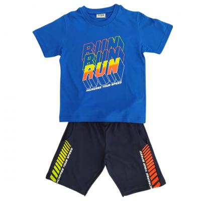 Σετ μπλούζα & βερμούδα/RUN (Μεγέθη: 6)