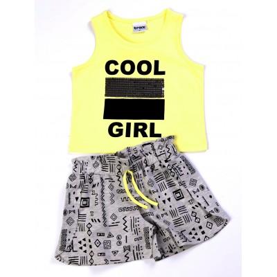 Μπλούζα & σορτς/Cool girl (Μεγέθη: 6,14,16)