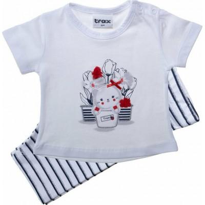 Σετ μπλούζα & κολάν/Γατάκι (Μεγέθη: 12Μ,18Μ)